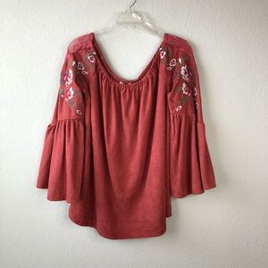 Umgee Blouse with Bell sleeves size small